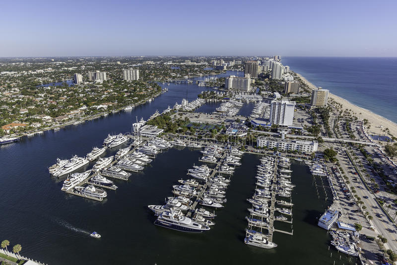 Flyg- Fort Lauderdale, Florida royaltyfri foto