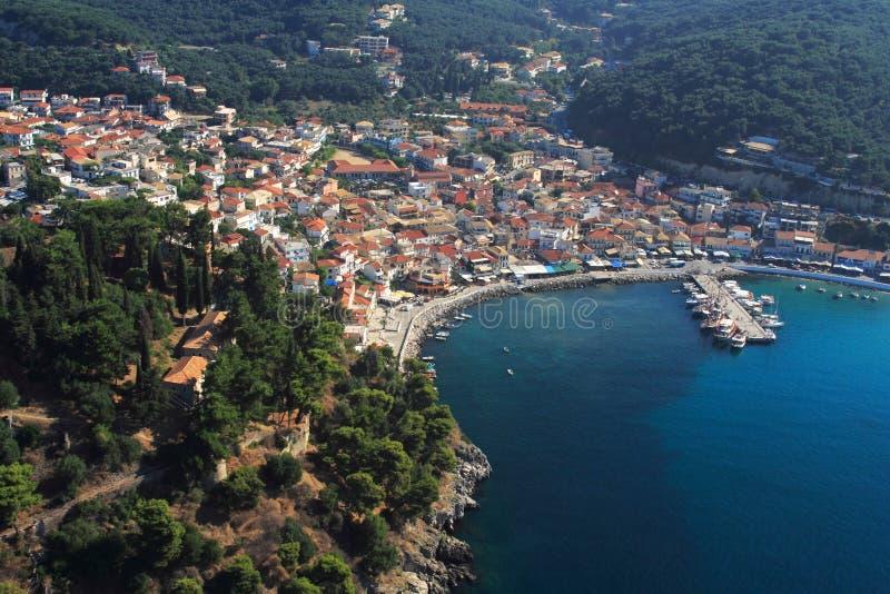 flyg- greece pargasikt fotografering för bildbyråer