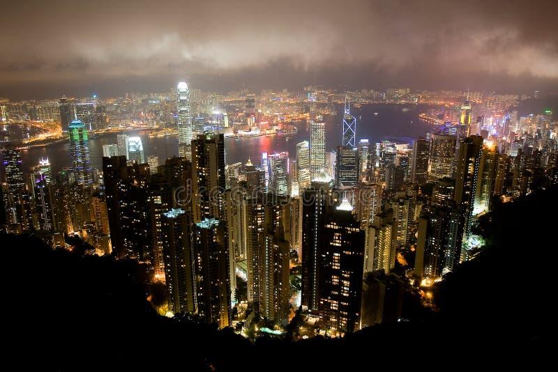 flyg- Hong Kong sikt royaltyfri foto