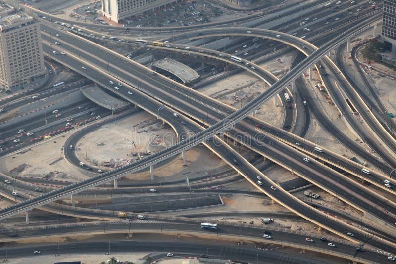 flyg- huvudvägföreningspunktsikt royaltyfri fotografi