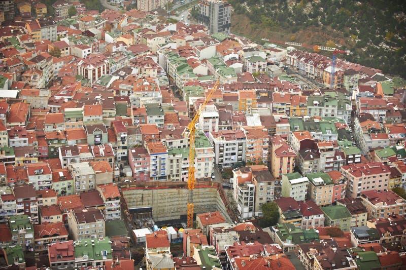 flyg- istanbul sikt gammal stad arkivfoto