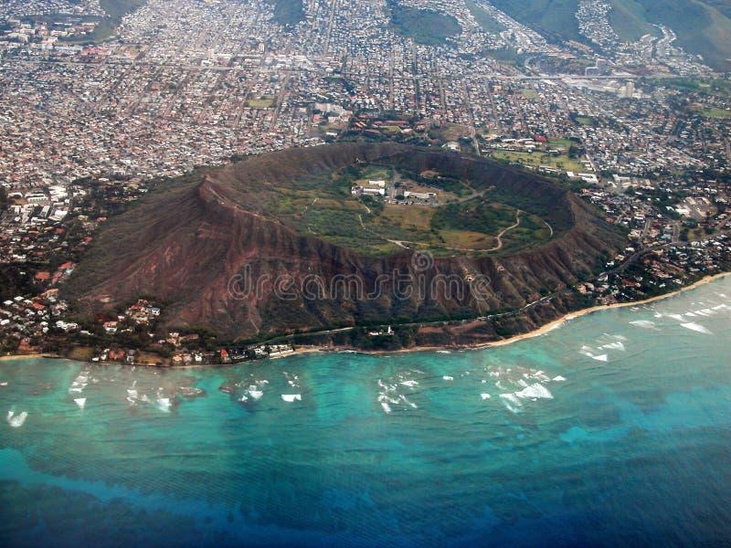 flyg- kraterdiamanthuvud fotografering för bildbyråer