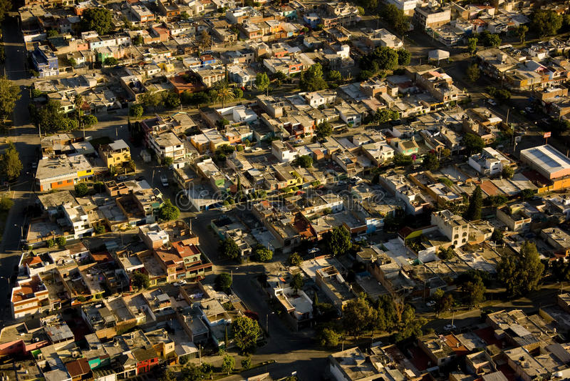 flyg- leon mexico sikt arkivbild