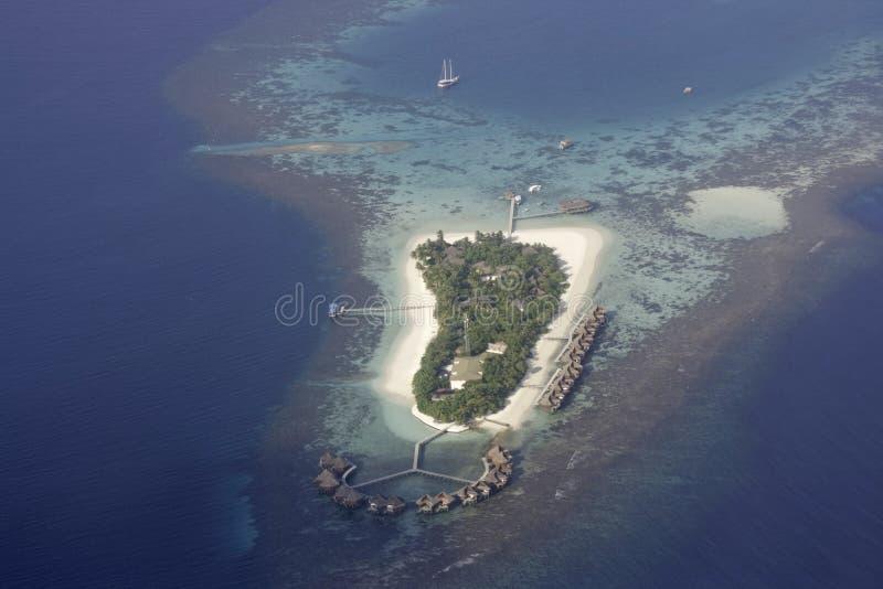 flyg- maldives mirihisikt royaltyfri bild