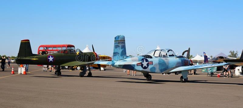 Flyg- och utbildningsexpo arkivfoton