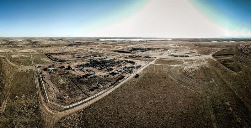Flyg- panorama av den östliga platsen för slättColorado naturgas arkivbilder