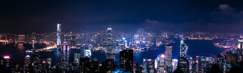 Flyg- panorama av Hong Kong royaltyfri fotografi