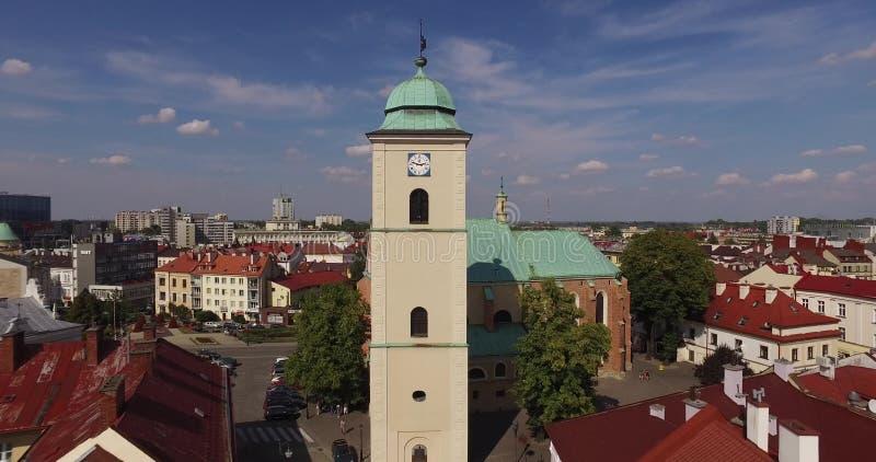 Flyg- panorama av stadfyrkanten i Rzeszow, Polen royaltyfria bilder