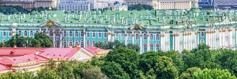 Flyg- panoramautsikt av eremitboningen, St Petersburg Ryssland royaltyfri bild