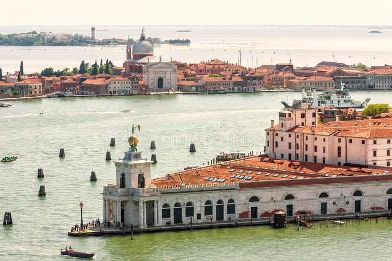 Flyg- panoramautsikt av Venedig, Italien royaltyfri fotografi