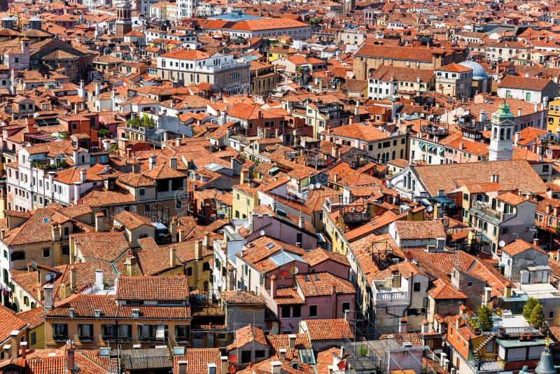 Flyg- panoramautsikt av Venedig, Italien arkivbild