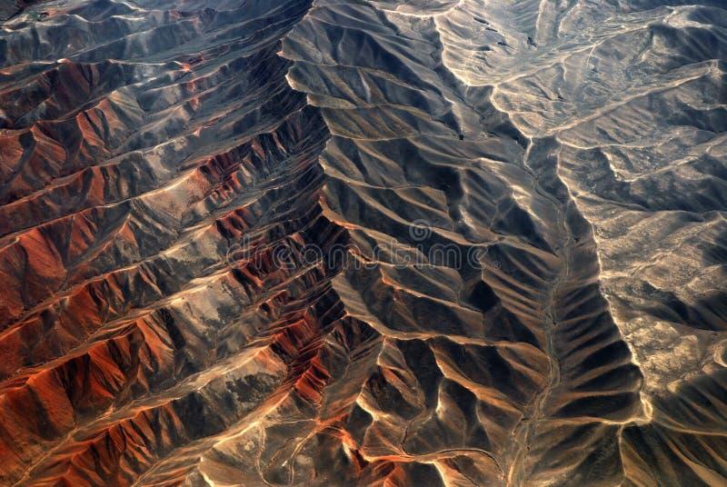 flyg- porslinberg tianshan xinjiang arkivbilder