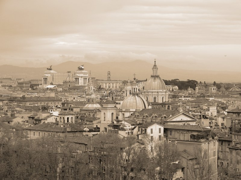 flyg- rome sikt royaltyfria foton