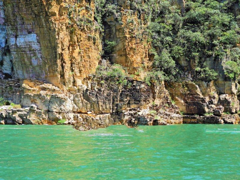 Flyg- sikt av ber?mda kanjoner av Capitolios lagun arkivbilder