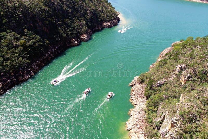 Flyg- sikt av ber?mda kanjoner av Capitolios lagun arkivfoton