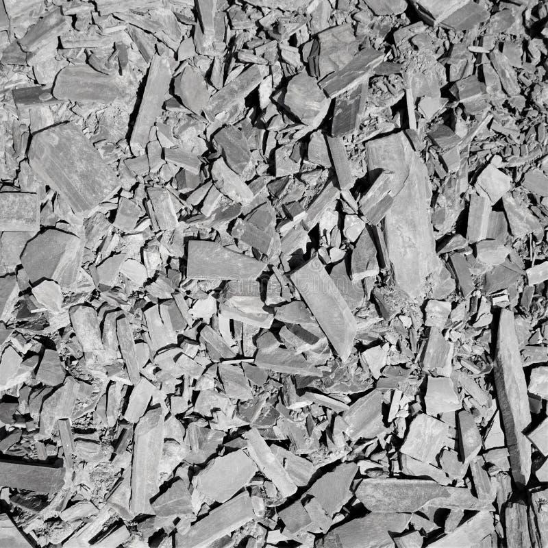 Flyg- sikt av bruten skiffersäng royaltyfri fotografi