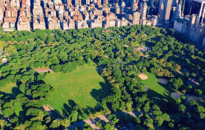 Flyg- sikt av Central Park royaltyfri bild