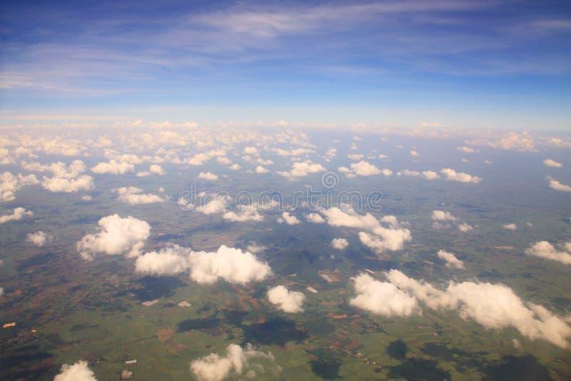 Flyg- sikt av cloudscape arkivbilder