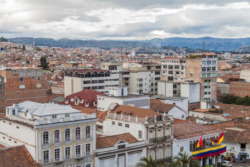 Flyg- sikt av Cuenca arkivbild