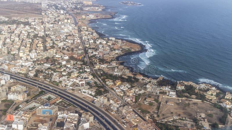 Flyg- sikt av Dakar royaltyfri foto