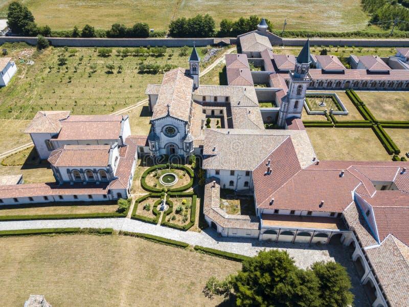 Flyg- sikt av de Certosa dina Serra San Bruno, Vibo Valentia, Calabria, Italien royaltyfria bilder