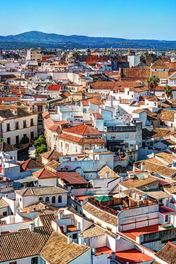 Flyg- sikt av den Cordoba staden i Spanien arkivfoton
