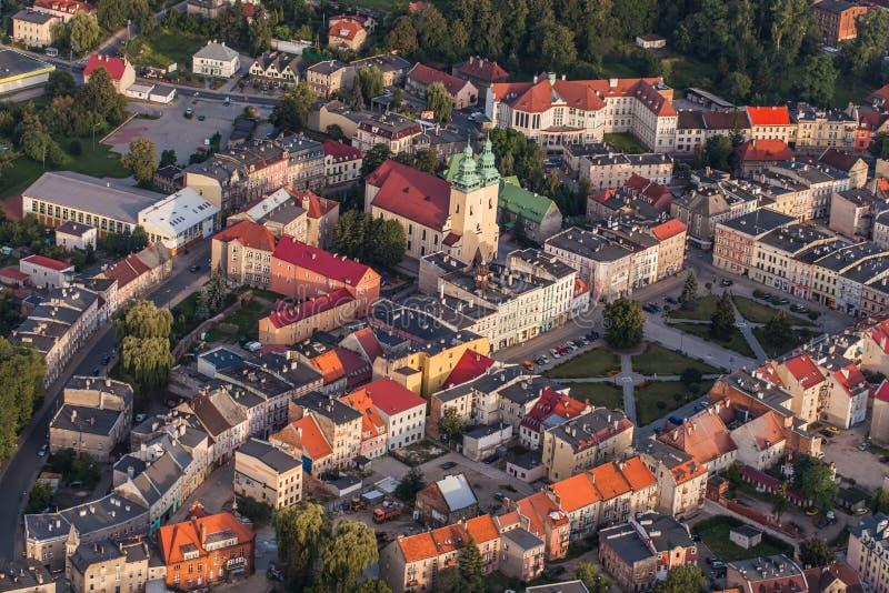 Flyg- sikt av den Glucholazy staden arkivfoton