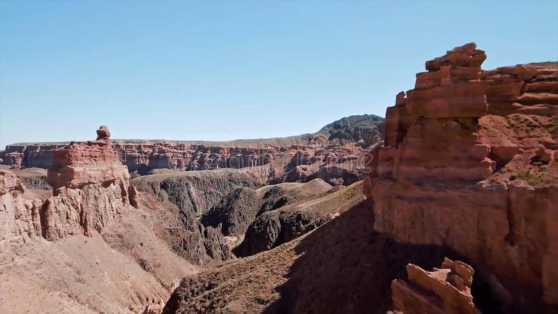 Flyg- sikt av den Grand Canyon nationalparken, Colorado, USA materiel Flyg- sikt av floden inom Grand Canyon från arkivbild