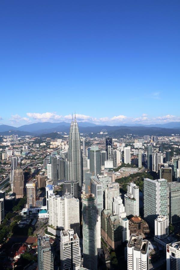 Flyg- sikt av den Kuala Lumpur staden från KL-torn - serie 2 fotografering för bildbyråer