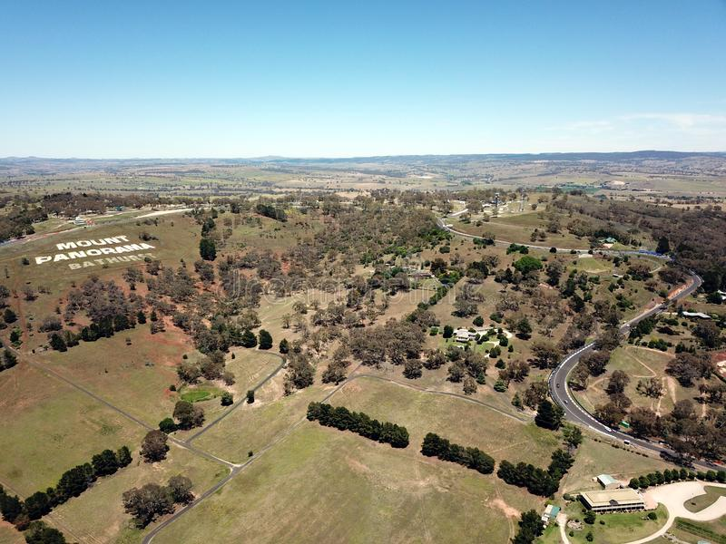 Flyg- sikt av den regionala landsstaden av Bathurst royaltyfria bilder