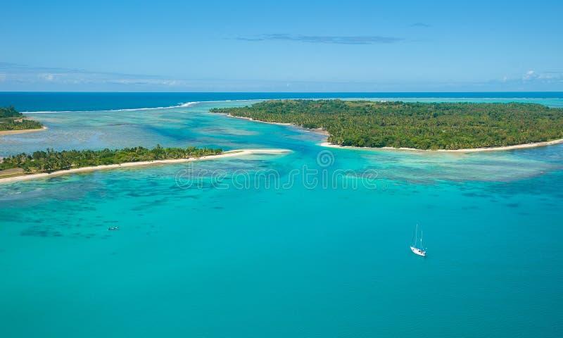 Flyg- sikt av den Sainte Marie ön, Madagascar royaltyfri foto