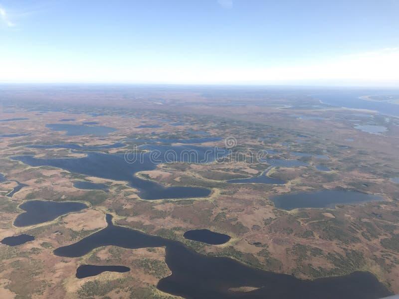 Flyg- sikt av det arktiska landskapet royaltyfri bild