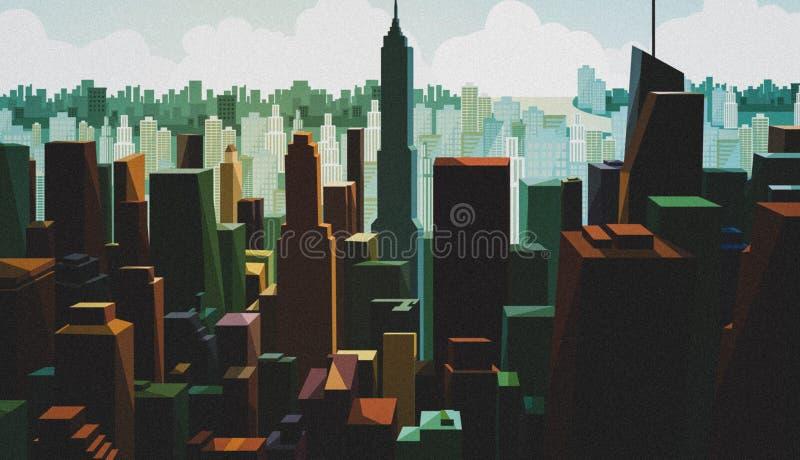 Flyg- sikt av en i stadens centrum huvudstad Cityscapesikt med torndesign Panorama av affärsområdet med hög byggnad sceniskt arkivbild