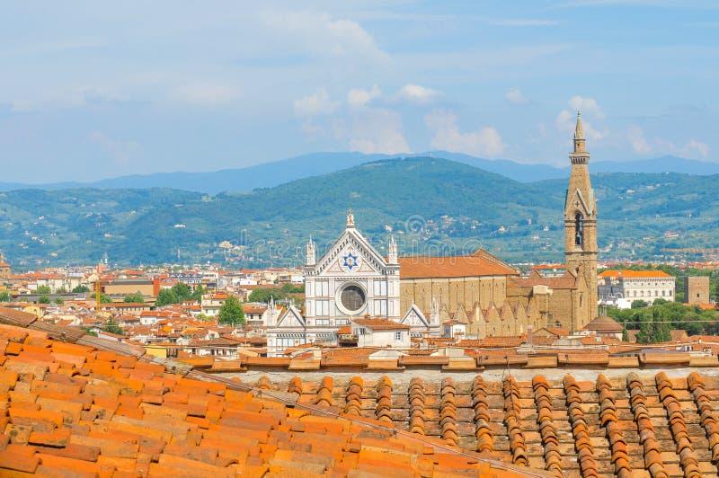 Flyg- sikt av Florence royaltyfria bilder