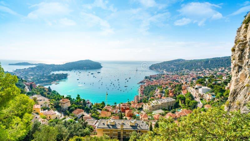 Flyg- sikt av franska Riviera arkivbilder