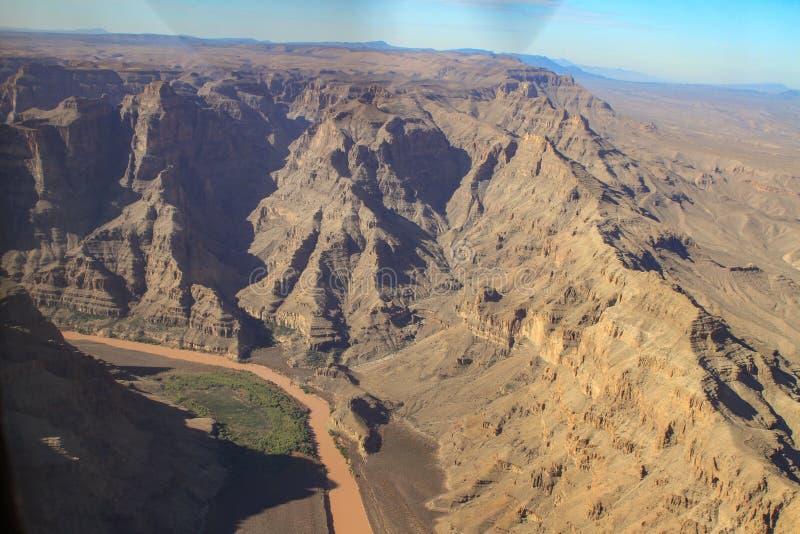 Flyg- sikt av Grand Canyon, USA arkivbilder