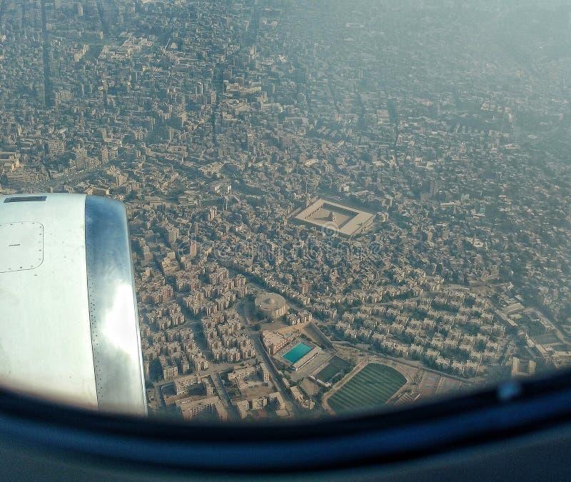 Flyg- sikt av Kairo Egypten arkivfoton