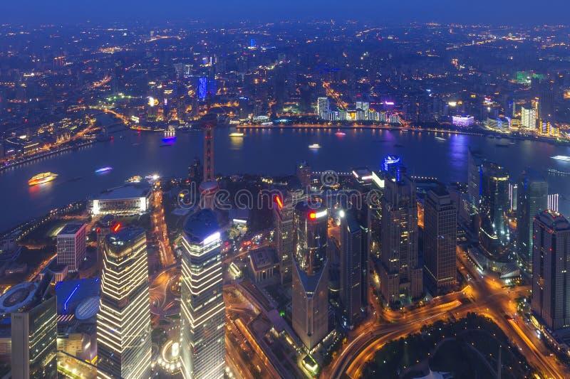 Flyg- sikt av Kina shanghai lujiazuifinans fotografering för bildbyråer