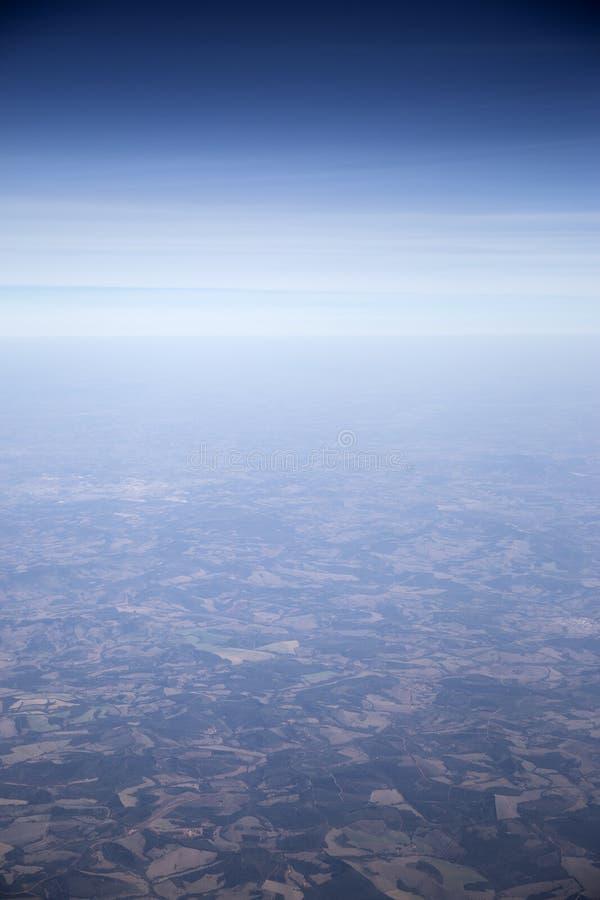 Flyg- sikt av landsbygd - Brasilien arkivbilder