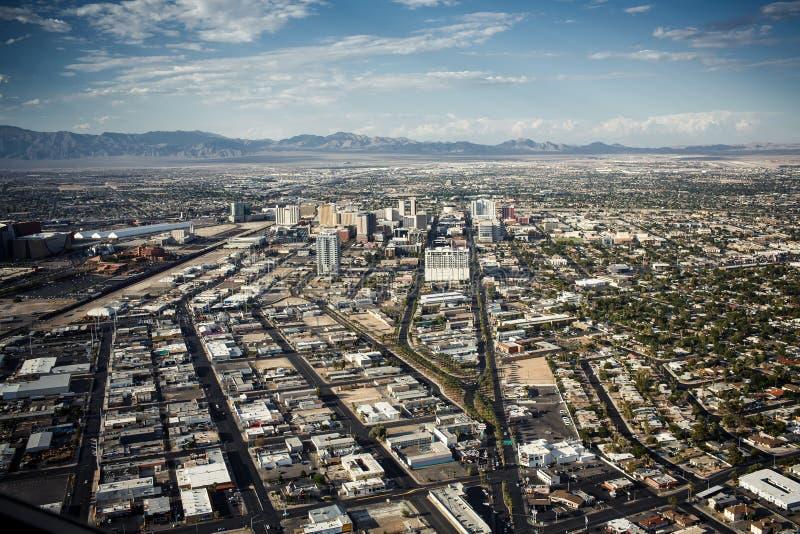 Flyg- sikt av Las Vegas fotografering för bildbyråer