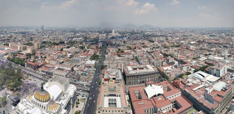 flyg- sikt av Mexico - stad i stads- zon royaltyfri bild
