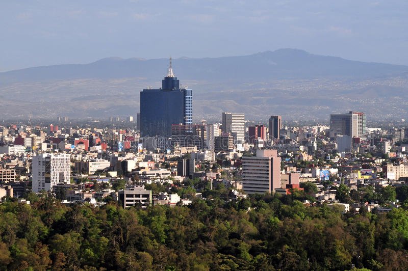 Flyg- sikt av Mexico - stad - Mexico royaltyfria foton