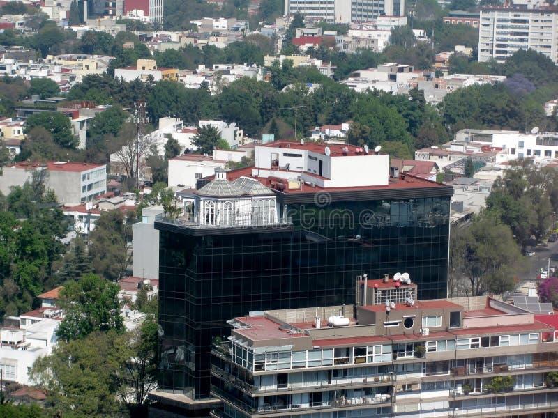 Flyg- sikt av Mexico - stad, Mexico arkivfoton