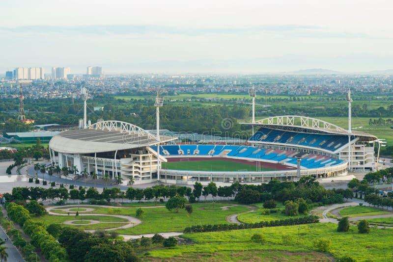 Flyg- sikt av min Dinh stadion, Hanoi fotografering för bildbyråer