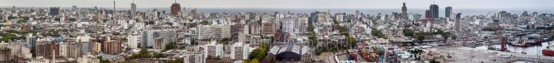 Flyg- sikt av Montevideo arkivfoto
