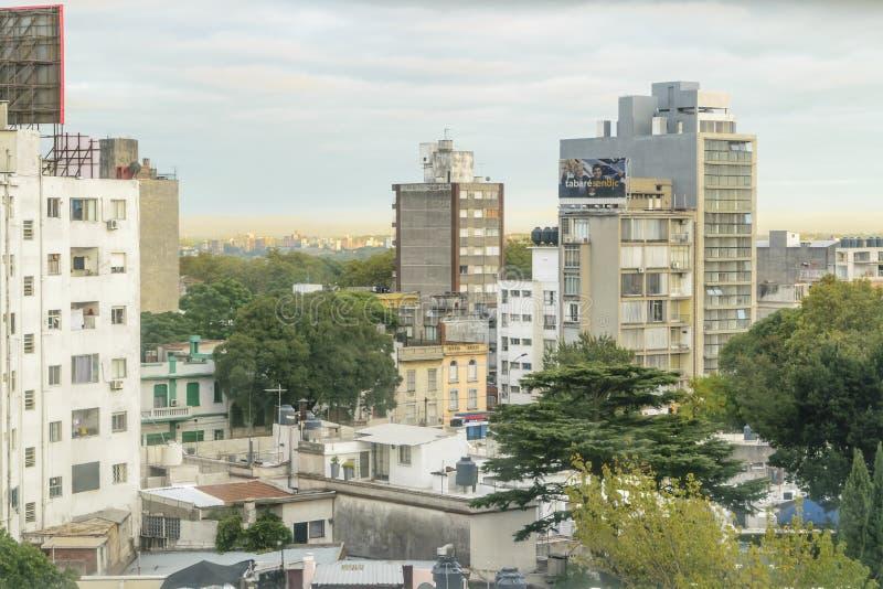 Flyg- sikt av Montevideo från byggnad fotografering för bildbyråer