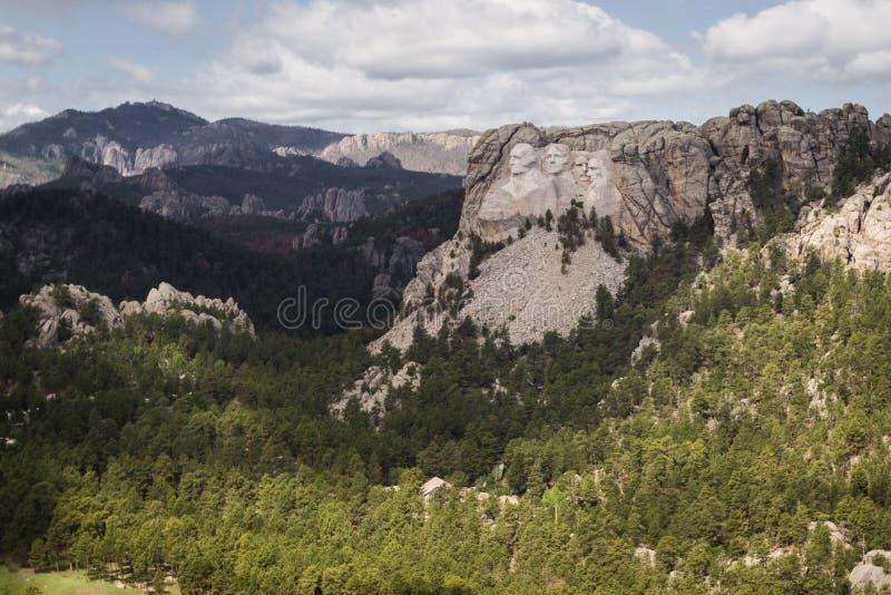 Flyg- sikt av Mount Rushmore arkivfoton