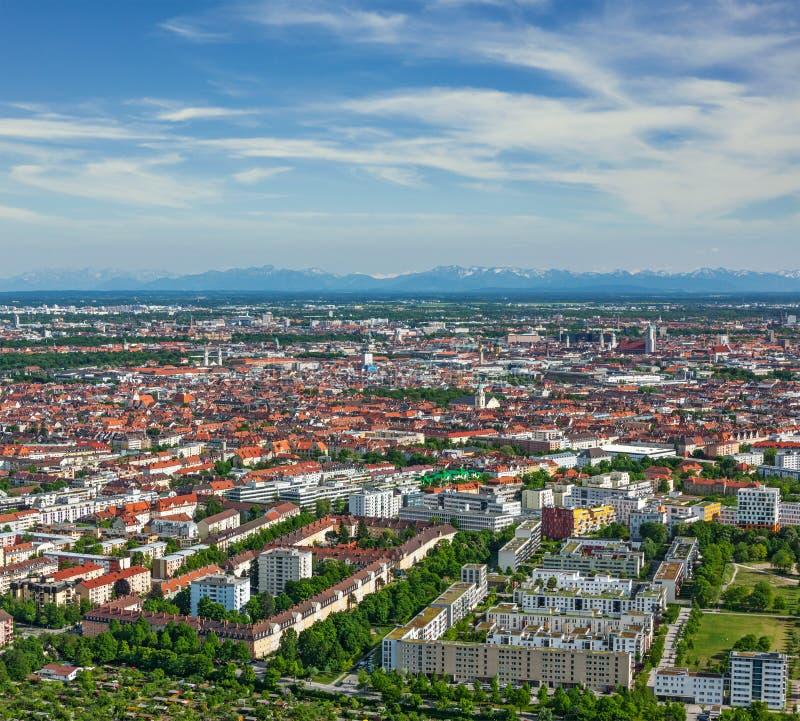Flyg- sikt av Munich. Munich Bayern, Tyskland royaltyfri fotografi