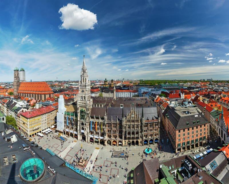 Flyg- sikt av Munich, Tyskland royaltyfri foto