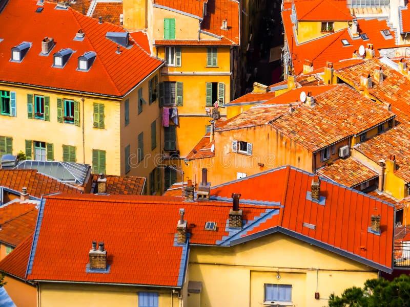 Flyg- sikt av Nice, Frankrike fotografering för bildbyråer